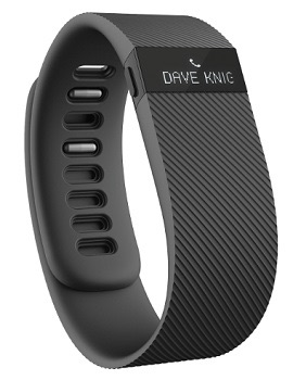 Fitbit Charge in Black with Caller ID