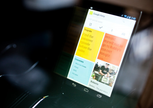 Preview of Google Keep interface.