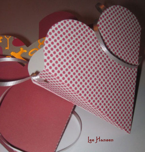 Home made heart shaped gift box - print, cut and glue together