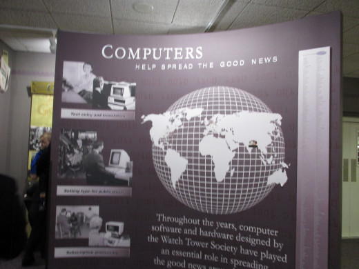Computers are used in the printing process as well as spreading of the good news of Jehovah God's kingdom.
