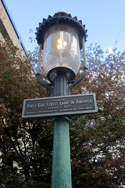 America's first gas lantern, made of Copper found in Baltimore, Maryland.