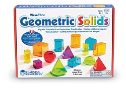 Geometric Solids Light Table Blocks