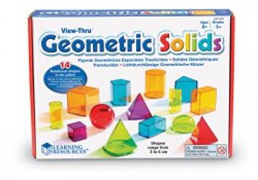 Geometric Solids Light Table Blocks