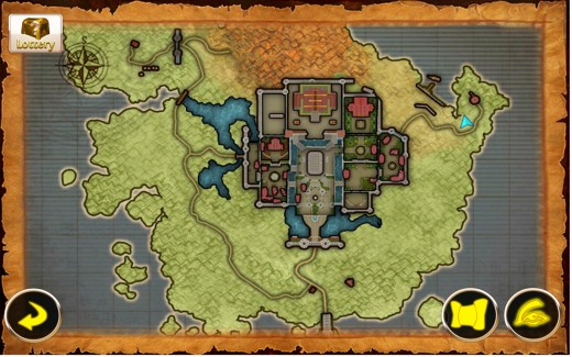 Map of Flare Island, home of Sanctuary, the new main town in Haradon.