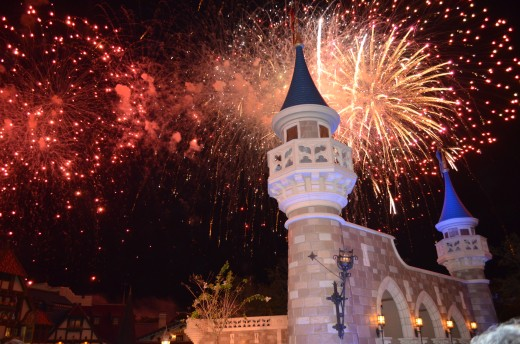 Holiday or not, nightly fireworks add icing to the Disney magic at Walt Disney World's The Magic Kingdom. This was taken on Thanksgiving Day.