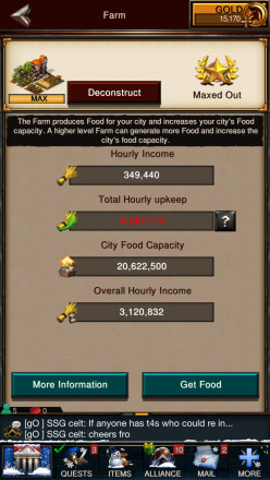 Game of War Fire Age - Advanced Food Management