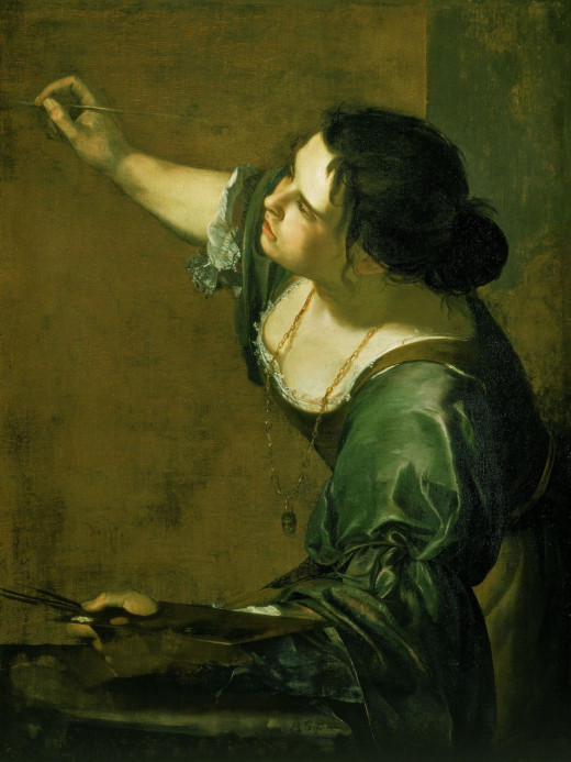 Self-portrait} as the Allegory of Painting (1630s) by Artemisia Gentileschi