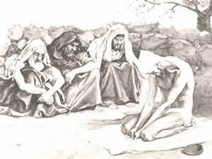 """""""Then they sat on the ground with him for seven days and seven nights.  No one said a word to him, because they saw how great his suffering was.  After this, Job opened his mouth and cursed the day of his birth."""""""