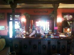 The bar tender at the Longhorn Saloon