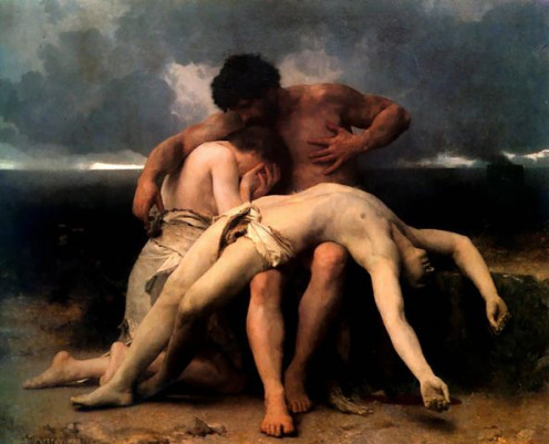 """The First Mourning"" by William- Adolphe Bouguereau (1888)"