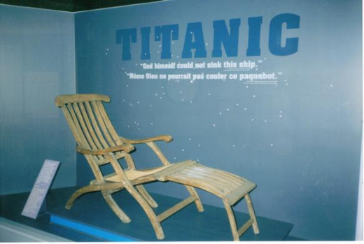 Original Titanic Deck Chair