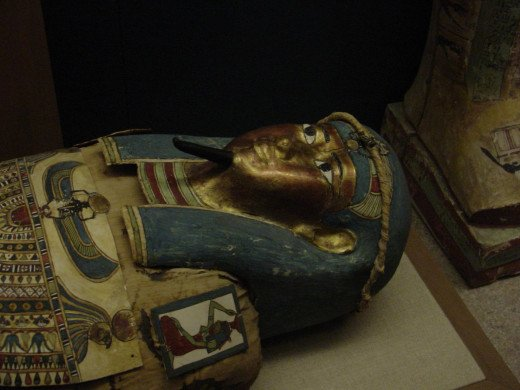 An Egyptian Sarcophagus at the museum.