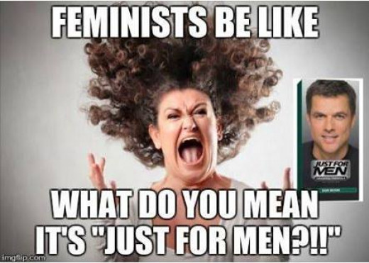 How most People view feminist's. (photographer and Author unknown).