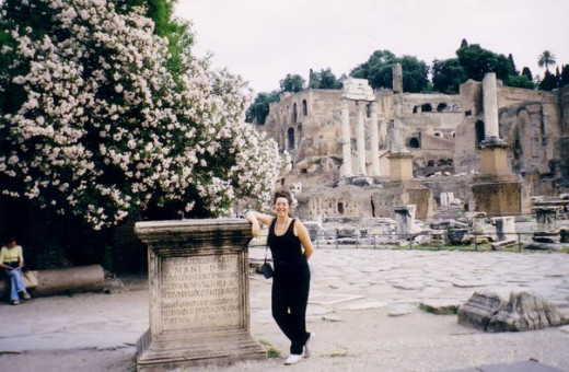 Me at the Roman Forum in Italy.