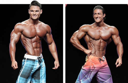 Left photo: IFBB Pro Jeremy Buendia, Men's Physique Mr.Olympia 2014 Right photo: IFBB Pro Sadik Hadzovic, Men's Physique Mr.Olympia 2014 runner-up