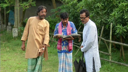 Jayanta Chatapadhay, Faruque Ahmed and Sheik Meraz in a Scene