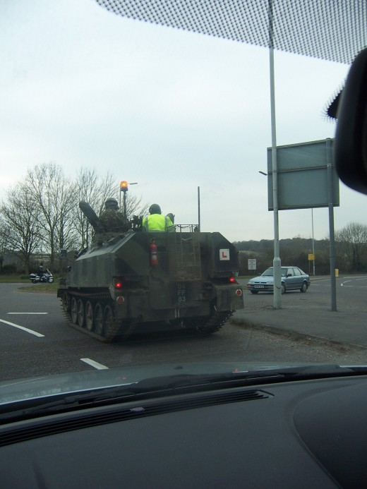 Military Tanks with Learner Permits!