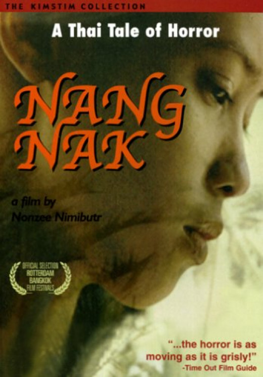 Nang Nak set box office records in Thailand when it was released in 1999. Filmed among menacing rivers and lush jungles, Nang Nak is a visually stunning film. A rare, heartbreaking and horrifying story.
