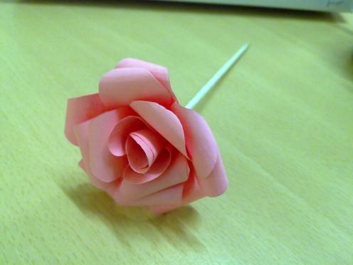 Paper rose flower I made