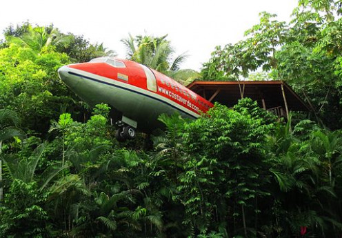 Costa Verde Costa Rican Resort. Master Suite in a real airplane.