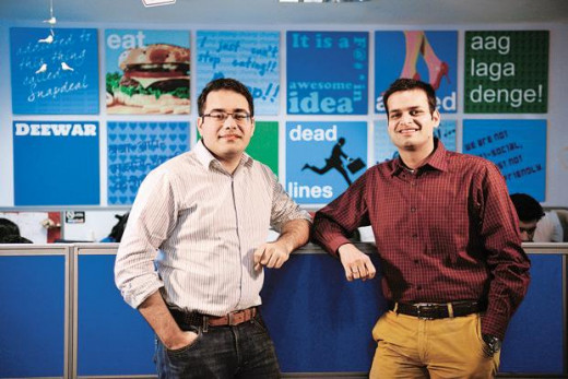 CEO Kunal Bahl and co-founder COO Rohit Bansal