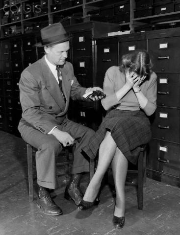 "Reenactment of ""Interreo,"" 1948, Chicago, California"