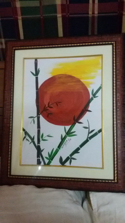 Sun and Shadow - framed ( water color)
