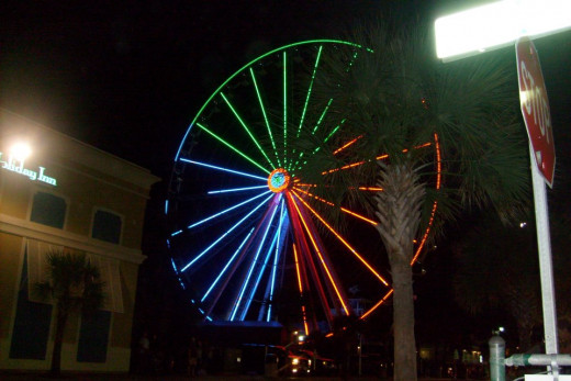 The Skywheel at Night
