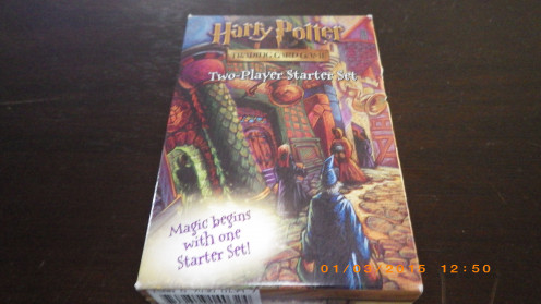 Front of Harry Potter Trading Card Game box