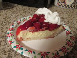 Cherry Cheese Cake Pie with No Roll Out Pastry Crust
