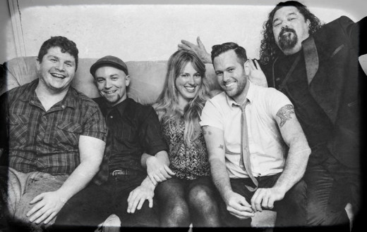 From Left To Right: Danny Johnson - Drums, Sean Farrell - Bass, Juliet Howard - Vocals, Nathan Earle - Vocals + Lead/Rhythm Guitar,   Steve Johnson – Sax