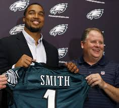 Eagles first round draft pick (Bust) Marcus Smith (L) and head coach / Grand Imperial Poo-bah Chip Kelly