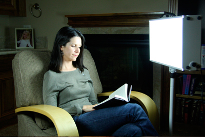 Sitting 18 to 24 inches from a light box for 30 minutes twice a day can help SAD sufferers. Do not look at the light but read or some other activity as long as light enters the eye.