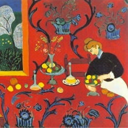 "Detail from ""The Red Room"" by Henri Matisse"