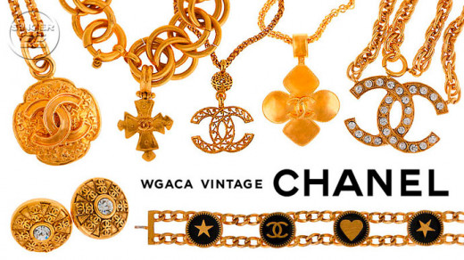 Various designs of CoCo Chanel jewelry