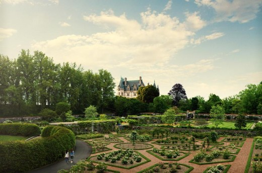 Historic Rose Garden at Biltmore