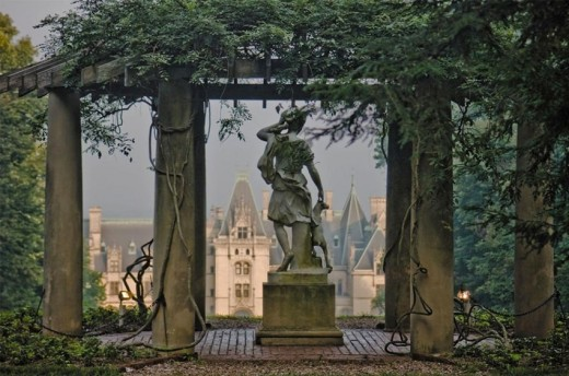Statue of Diana, Roman Goddess of the Hunt at Biltmore House