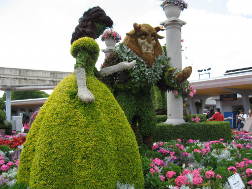 Just imagine creating this topiary of Beauty and the Beast. The Disney gardeners are fabulous.