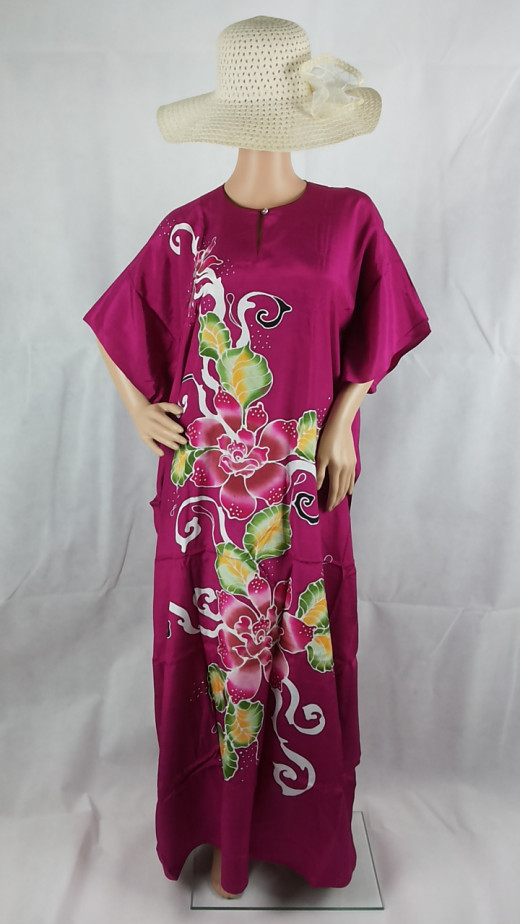 Always love this one, beautiful color and exquisite batik flowers.