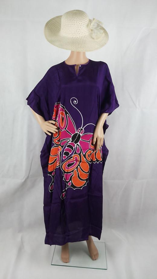 Purple and multicolour butterflies.