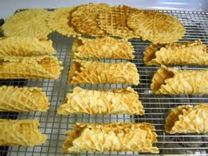 rolled pizzelles