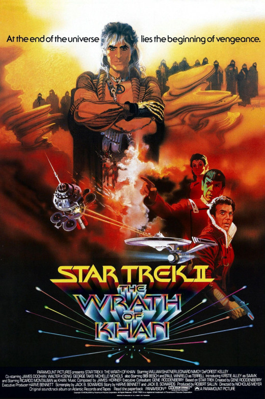 """Star Trek II: The Wrath of Khan"", based on the television series ""Star Trek"", created by Gene Roddenberry, was directed by Nicolas Meyer and starred William Shatner, Leonard Nimoy, and DeForest Kelley."