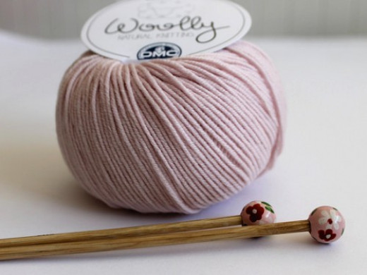 Yarn and Needles Ready for Knitting