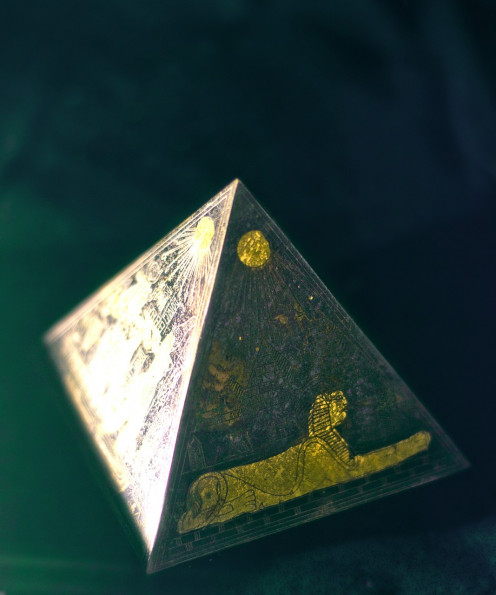 Egyptian pyramid model