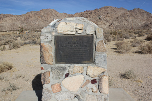 The historical markers which vaguely describe the incident.