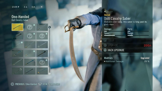 As with previous games, different weapons have various properties.