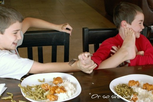 The 'Teaching Children Table Manners' Game