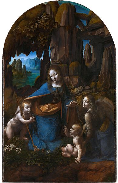 Leonardo da Vinci, Virgin of the Rocks (1498 - 1508), London National Gallery - An earlier version is conserved at the Louvre