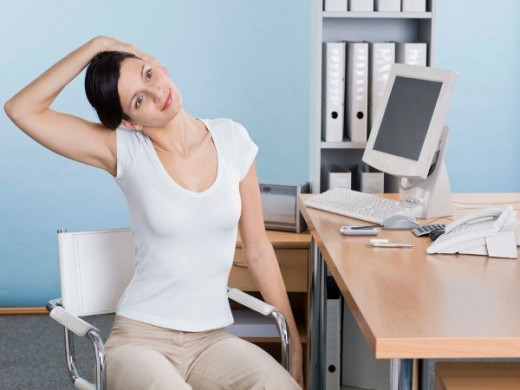 Stretching At Your Desk do the woders