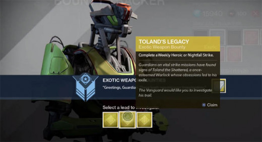 How to level up fast in destiny with legendary exotic gear weapons